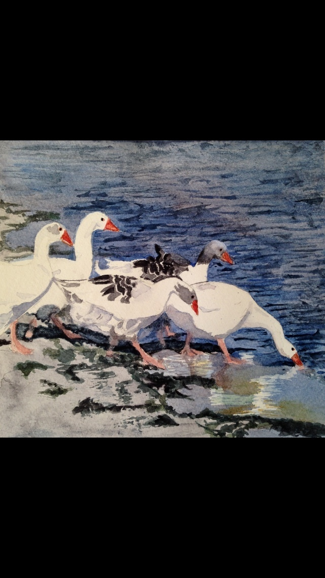 2 Geese triptych 1